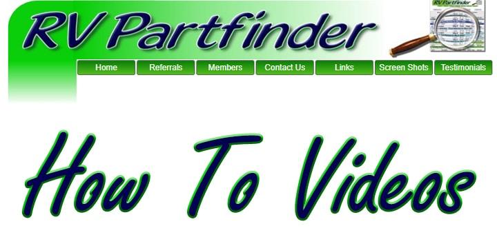 RV Partfinder