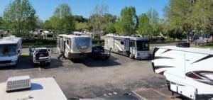 rooftop view of rvs