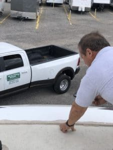 Checking rv front cap seal - david cantrell - miles from monday rv inspections