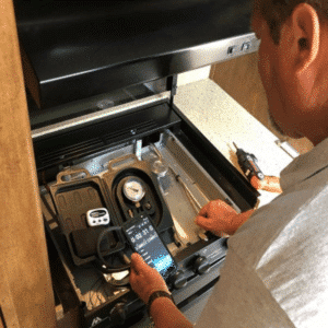 RV propane leak check - david cantrell - miles from monday rv inspections 2000 x 2000